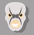 super hero in mask icon in sticker style vector image