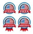 USA presidential election set 2016 badge vector image