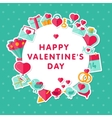 Valentine background with flat elements vector image