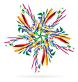 Abstract colourful star vector image