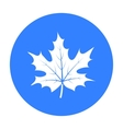Maple leaf icon in black style isolated on white vector image