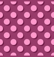 tile pattern big pink polka dots with shadow vector image