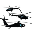 helicopters collection - vector image