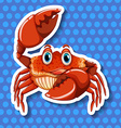 Crab with big claws vector image