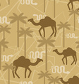 Camel and snake Military camouflage background vector image
