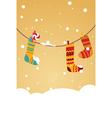 christmas stocking invitation vector image