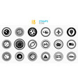 collection of black and white stamps - quality and vector image