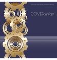 cover design with golden cogwheels vector image