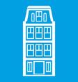 dutch houses icon white vector image