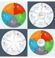 Set of modern minimal infographics circles vector image