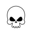 skull isolated skeleton head on white background vector image