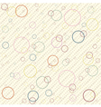 Vintage pattern with rings vector image