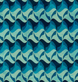 wave seamless pattern with grunge effect vector image