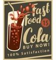 cola drink in retro style vector image