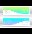 Set abstract summer marine banners vector image