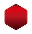 Empty Hexagon patch sticker vector image