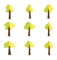 Set of tree object for decoration vector image