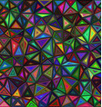 Dark colored triangle mosaic background design vector image