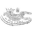 Thai yantra tattoo vector image