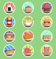 Food Menu Flat Icon vector image