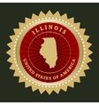 Star label Illinois vector image vector image