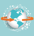 Modern globe with application icon modern template vector image vector image