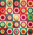 colored rhombus seamless pattern with grunge vector image