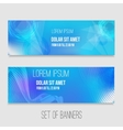 set of abstract technology banners with vector image