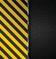 Metallic background with yellow and black stripes vector image vector image