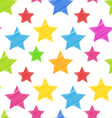 Seamless Texture with Colorful Stars Elegance Kid vector image
