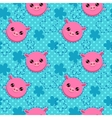 Funny seamless pattern with cute piglets vector image