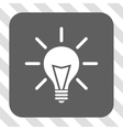 Electric Light Rounded Square Button vector image