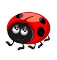 happy ladybird vector image