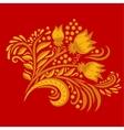 Khokhloma decorated hand-drawn ornament vector image