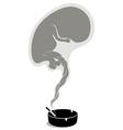 pregnant smoker vector image