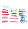 Set of watercolor hand-painted a brush vector image