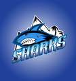 Sharks club professional logo vector image