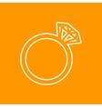 wedding ring icon Eps10 vector image