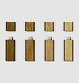 wood Micro USB flash drive for phone vector image