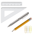 pencil pen and rulers vector image