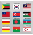 Flags of world 14 vector image