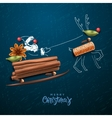 Santa Claus flying in a sleigh vector image vector image