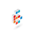 3d cube number 6 logo icon design template vector image