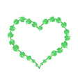 Fresh Green Vine Leaves in A Heart Shape vector image