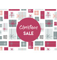christmas sale christmas present background vector image