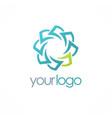 circle paper logo vector image