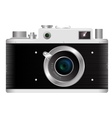 Old rangefinder film camera on a white background vector image