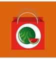 red package juicy watermelon fruit vector image