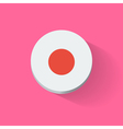 Round icon with flag of Japan vector image