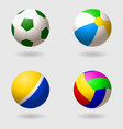 set of children s balls for different games vector image